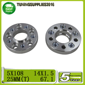 Wheel Spacers For Ferrari Australian Delivered 348Ts 25Mm Thickness 2Pcs 5X108