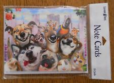 8 Leanin Tree Note Cards DOGS, CATS, BUNNY, PARROT, PET ANIMALS, SMILING SELFIES