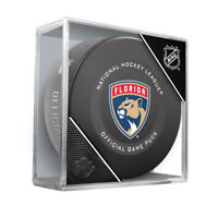 Florida Panthers Official NHL Game Hockey Puck (in Display Cube)