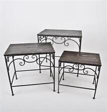 Tables d'appoint gris en métal pour la maison