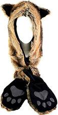 Fox Faux Fur Animal Hood Hoods Mittens Gloves Scarf Paws Ears