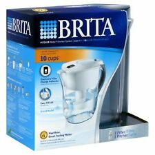 Brita Grand Water Filter Pitcher System 80-fl oz. - White