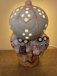 bedside children's lamp.2 Elephants In An Air Balloon