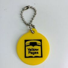 Vintage Telephone Yellow Pages Key Ring Keychain Collectible