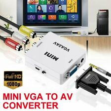 2 in 1 VGA to AV Converter Cable 1080P VGA to RCA Audio Video Adapter USB Cable