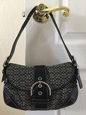 Coach SOHO Black Signature Shoulder Bag/Handbag/Purse AO5W-6818 $338.