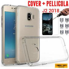 Custodia Samsung Galaxy J2 (2018) Cover Silicone + Pellicola Vetro Temperato