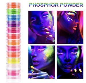 GLOW IN THE DARK NEON POWDER, Pigment NAIL ART, SLIME, RESIN,JEWELRY, Epoxy