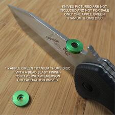 Kershaw Emerson CQC-1K 2K 3K 4K 5K 6K 7K 8K Knife Ti Thumb Disc - APPLE GREEN