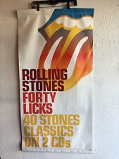 Rare The Rolling Stones 40 Licks Promotional Banner 24�x 48� Double Sided.
