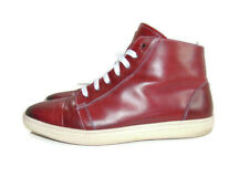 Mezlan Sneakers Burgundy Marsala Calfskin Leather Lace Up High Top Mens 11.5