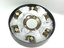 Espresso Coffee Set Black & Gold With Medusa Print Scratch & Dent Clearance