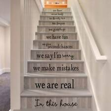 Selfadhesive Staircase Stair Riser Floor Sticker DIY Wall Decal Letter Parttern