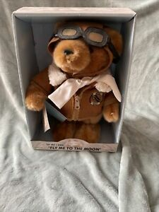 """100th Anniversary Wright Brothers Flight Teddy """"Fly Me to the Moon"""" **RARE**"""