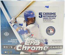 2019 Topps Chrome Jumbo Baseball Sealed Box (5 AUTOS)