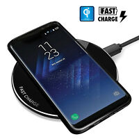 (15W Fast) Qi Wireless Charger Charging Pad for Samsung Galaxy S9 S8 Plus & MORE