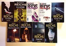 9 livres KATHY REICHS Ange nord Circuit mortel Os troubles roman policier BONES