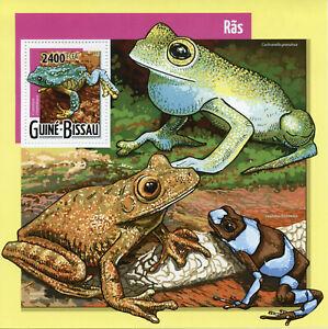 Guinea-Bissau Frogs Stamps 2015 MNH Frog Amphibians Fauna 1v S/S
