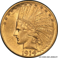 1914-S Indian $10 Gold Eagle PCGS AU58 Low Mintage Better Date