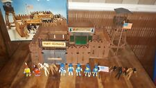 Playmobil 3419 fort Randall + EXTRAS indios  oeste far west fuerte año 1974