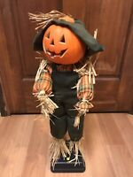 Vintage Gemmy Halloween Factory 1995 Animated Scarecrow Sound & Motion w/ Box