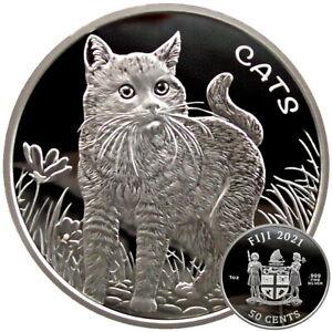 ++ Fiji Cats 2021 - 1oz Silber / Ag - Auflage 12.000  ++