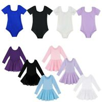 Girls Gymnastics Ballet Dance Dress Kids Leotard Tutu Jumpsuit Dancewear Costume