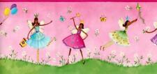 Fairy Angel Princess Fairies God Mother Green Pink Children Wallpaper Border