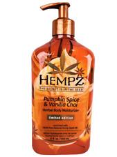 Hempz Pumpkin Spice & And Vanilla Chai Herbal Body Moisturizer Lotion 17oz