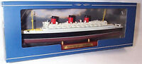 RMS Queen Mary Transatlantic liner on display Plinth 1:1250 Scale  mib Atlas