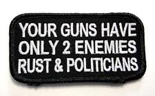 Guns Have Only 2 Enemies Patriot Biker Rebel Embroidered Patch Iron Sew PWPM5045