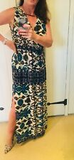 Zara Sheer Cotton Aztec Print Maxi Dress Size L New