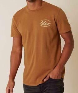 OBEY Líneas Hombre 100% Algodón Superior Camiseta Mediano Bombay Marrón Nuevo