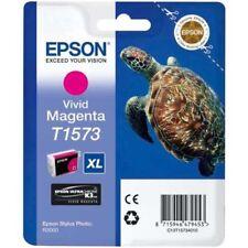 Epson T1573 - New Print Inkjet Cartridge - Vivid Magenta GENUINE Epsom Original