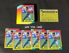 Carlos Baerga-Lot of 50-1990 Topps Traded #6T Rookie RC Baseball Cards NM/MT+
