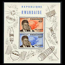 Rwanda, Sc #136, MNH, 1965, S/S, JFK, John Kennedy, Space, CL042F