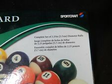 SPORTCRAFT BILLIARD BALLS COMPLETE SET PROFESSIONAL 2.25 IN DIAMETER BALL