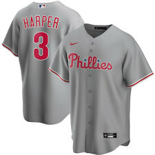New 2020 Philadelphia Phillies Bryce Harper #3 Nike Road Replica Team Jersey