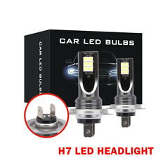 H7 LED Headlights Bulbs Kit High Low Beam 600W 16000LM Super Bright 6000K White