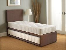3FT SINGLE GUEST BED 3 IN 1 WITH MATTRESS PULLOUT TRUNDLE BED SET
