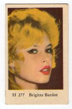 1960s Swedish Film Star Card Star H Set #277 French Sex Symbol Brigitte Bardot