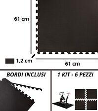 Tatami Eva SET 6 PEZZI Tappeto Puzzle 61x61x 1,2 cm - Pezzi a Incastro -