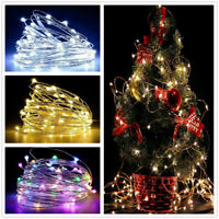 8 Modes USB 10M 100LED String Copper Wire Fairy Lights Wedding Xmas Party Decor