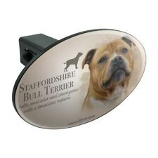 Staffordshire Bull Terrier Dog Breed Oval Tow Trailer Hitch Cover Plug Insert