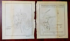 2 1900 14th Us Infantry Boxer Rebellion China Pagoda Pa Ta Chao Sketch Maps