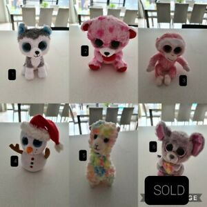 TY Beanie Boos 64 available animals stuffed toys collectables dog penguin cat