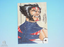 2013 Fleer Marvel Retro Wolverine Sketch Card Marcelo Ferreira Original Art 1/1