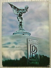 ROLLS ROYCE SILVER SHADOW Sales Brochure & Colour BRAVO Plates 1969-70 #TSD 2616