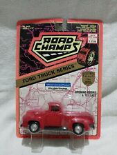 1956 Red F-100 Road Champs 1/43 Scale Ford Truck Series #6420 Die Cast Vtg Nip