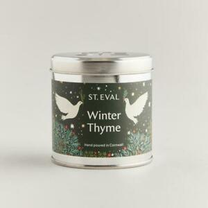"""St Eval Christmas """"Winter Thyme"""" Scented Candle in a Tin"""